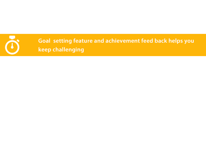 Increased use by feedback on setting and accomplishment of exercise goal